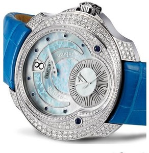 Franc Vila Franc Vila Tribute Jumping Hours Automatique Ivy Edition with Diamonds (SS / Silver / Strap) FVt28