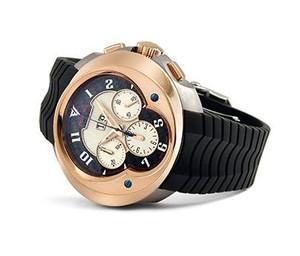 Franc Vila FVa8Ch Chronograph Grand Dateur Automatique (Titanium-RG / Black / Strap)