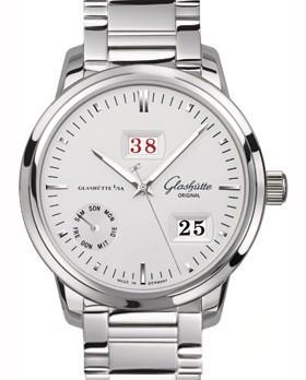 Glashutte Original Calendar Week (SS / Silver / SS Bracelet) 100-05-13-02-14