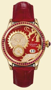 Glashutte Original Golden Dragon (RG / Red-Gold-Diamonds / Leather or Satin Strap 65-01-60-60-04