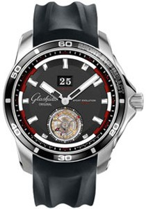 Glashutte Original Impact Tourbillon (SS / Black / Rubber) 94-01-03-03-04