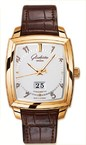 Glashutte Original Karree Panorama Date (RG / Silver / Leather) 39-47-51-51-05