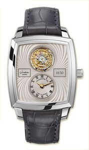 Glashutte Original Karree Tourbillon (Platinum / Grey / Leather) 43-01-13-12-04