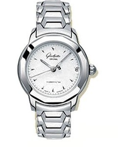 Glashutte Original Lady Sport (Steel / White / Steel) 10-33-41-51-04