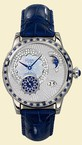 Glashutte Original Nordic Light (WG / Blue-Diamonds / Leather-Satin Strap) 90-02-62-62-04