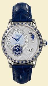 Glashutte Original Nordic Light (WG / Blue-Diamonds / Leather-Satin Strap) 90-02-62-62-04