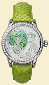 Glashutte Original Primavera (WG / MOP-Diamonds / Leather and Satin Strap) 90-03-63-63-04