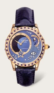Glashutte Original Summer Night (RG-Diamonds-Sapphires / RG Guilloch / Leather) 90-02-53-53-04