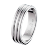 Boucheron Godron Platinum Large Wedding Band