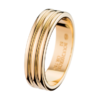 Boucheron Godron Yellow Gold Large Wedding Band
