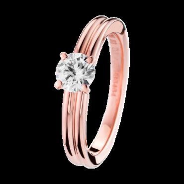 Boucheron Godron Pink Gold Solitaire