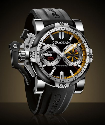 Graham Chronofighter Oversize Diver Turbo Tech (SS-PVD / Black-Yellow / Rubber) 2OVEV.B15A