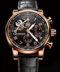 Graham Silverstone Tourbillograph (RG / Black / Leather Strap) 2TSAR.B04A