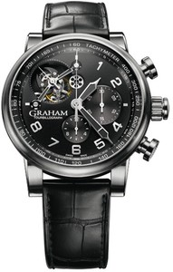 Graham Silverstone Tourbillograph (SS / Black / Leather Strap) 2TSAS.B02A