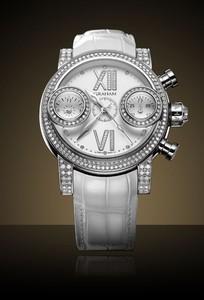 Graham Swordfish Diamonds White (SS-Diamonds / White-Diamonds / Leather Strap) 2SWFS.W16R