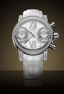 Graham Swordfish Diamonds White (SS-Diamonds / White-Diamonds / Leather Strap) 2SWFS.W16R