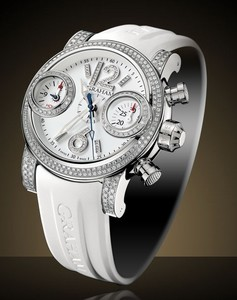 Graham Swordfish Snow White Right (SS-Diamonds / White / Rubber Strap) 2SWFS.W01B
