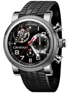 Graham Tourbillograph Trackmaster Chromium (SS / Black / Black Rubber Strap) 2TWTS.B05A.K47F