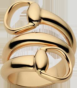 Кольцо Gucci Horsebit Yellow Gold Ring YBC233961002