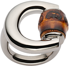 Кольцо Gucci Bamboo Silver Ring YBC236056001