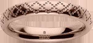 Кольцо Gucci Diamantissima Pink Gold Ring YBC272760002