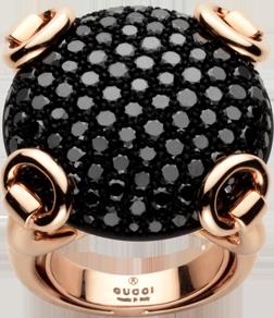 Кольцо Gucci Horsebit Pink Gold Ring YBC272820001
