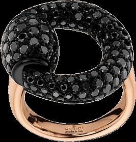Кольцо Gucci Horsebit Pink Gold Ring YBC286568001