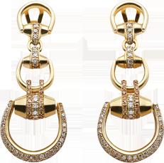 Серьги Gucci Horsebit Yellow Gold Earrings YBD170843001