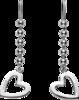 Серьги Gucci Silver Toggle Heart Earrings YBD181445001