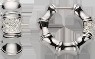 Серьги Gucci Bamboo White Gold Earrings YBD246528001