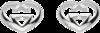 Серьги Gucci Silver Love Britt Earrings YBD246573001