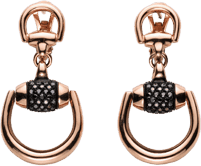Серьги Gucci Horsebit Pink Gold Earrings YBD272888001