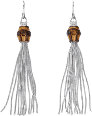 Серьги Gucci Bamboo Silver Earrings YBD284726001