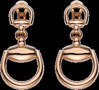Серьги Gucci Horsebit Pink Gold Earrings YBD286655001
