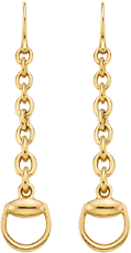Серьги Gucci Horsebit Yellow Gold Earrings YBD325813001