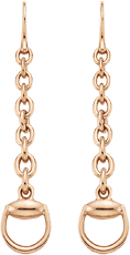 Серьги Gucci Horsebit Pink Gold Earrings YBD325813002