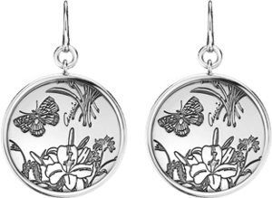 Серьги Gucci Flora Silver Earrings YBD325908001