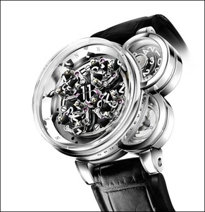 Harry Winston Opus Eleven (WG / Skeleton / Leather Strap)