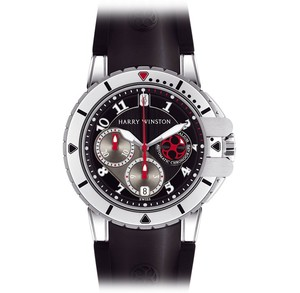 Harry Winston Project Z2 Sport Ocean (Zalium-White Gold / Black / Rubber) 410 / MCA44WZC.K