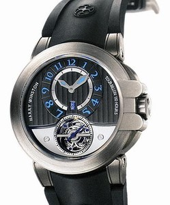 Harry Winston Project Z3 Sport (Zalium / Grey / Rubber Strap) 400 / MAT44ZC.NA