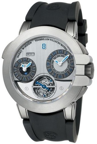 Harry Winston Project Z5 (Zalium / Silver / Rubber) 400 / MATTZ45ZC.WA