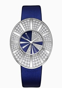 Harry Winston Talk To Me Harry Winston Limited Edition (WG-Diamond / Blue-Diamond / Satin Strap) 811 / LQWL.BD1 / D02-02