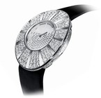 Harry Winston Talk To Me Harry Winston Snowflake (WG-Diamond / Silver-Diamonds / Satin Strap) 811 / LQWL.WD / D02