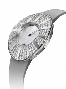 Harry Winston Talk To Me Harry Winston (WG-Diamond / Silver / Satin Strap) 811 / LQWL.M / D02