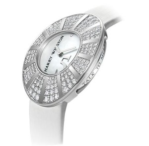 Harry Winston Talk To Me Harry Winston (WG-Diamond / Silver / Satin Strap) 811 / LQWL.M5 / D01