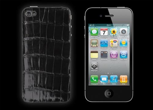 iPhone 4 Luxury Black Alligator