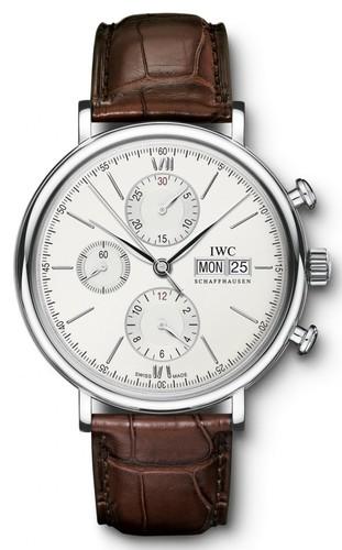 IWC Portofino Chronograph (SS / Silver / Leather Strap) IW391007