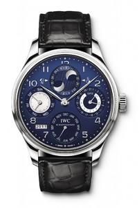 IWC Portuguese Perpetual Calendar (WG / Blue / Leather Strap) IW502121