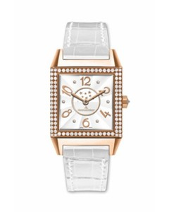Jaeger LeCoultre Jaeger LeCoultre Reverso Squadra Lady Duetto (RG-Diamonds /White/ Leather) Q7052403