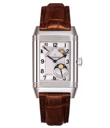 Jaeger LeCoultre Reverso Grande Sun Moon (SS / Silver / Leather) Q3048420